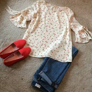 Beautiful Lauren Conrad LC cherry top sz small